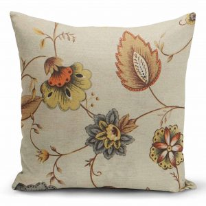 Decorative pillow in all sizes, Patricia gris with beige background