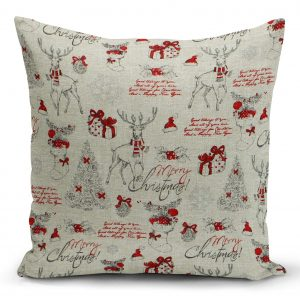 Curtains with Reindeer and gift